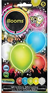 Illooms - LED Bolas 5 piezas, colores surtidos