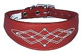 Rot Silber Ohrstecker Stitch Design Leder Whippet, Windhunde