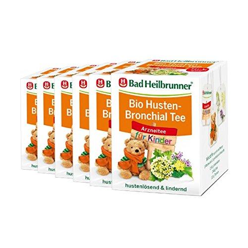 Bad Heilbrunner® BIO Husten-Bronchial Tee für Kinder - 6er Pack