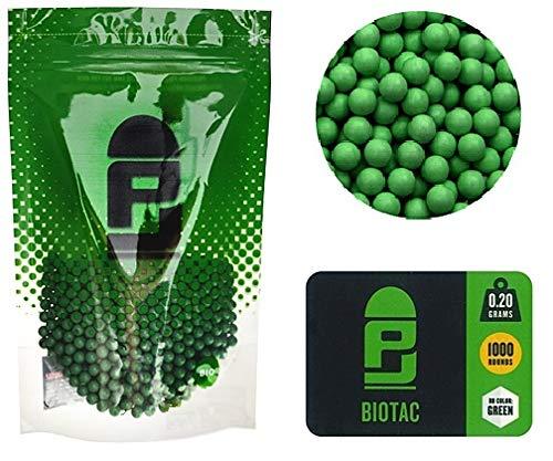 KS-11 Bio Softair Premium Munition 1000 BBS Schuss in grün absolut Gratifrei 6 mm im Polaybeutel - Marken Bio BB´s Profi Kugeln
