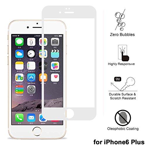 """Protecteur d'écran pour iPhone 6/6S Plus, xhorizon TM Protecteur d'écran en verre tempéré à couverture complète en 3D pour iPhone 6 Plus / iPhone 6S Plus [5.5""""] blanc"""