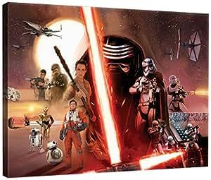 DELESTER DESIGN PPD1910O1 Star Wars VII Le Réveil de la Force Tableau d'Art Multicolore 100,0 x 3,0 x 75,0 cm