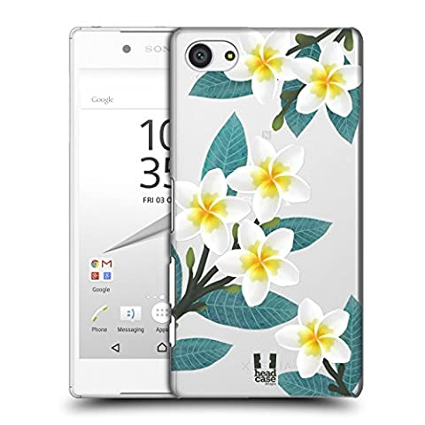 Head Case Designs Plumeria Watercolour Flowers 2 Hard Back Case for Sony Xperia Z5 Compact