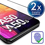 UTECTION 2X Full Screen Schutzglas für Samsung Galaxy A50 / A50s 2019 - Fingerabdrucksensor kompatibel - 3D Schutzfolie gegen Displayschäden, Passgenaue Schutzglasfolie 9H Displayschutzfolie Glas