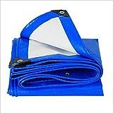 LPYMX Camping Schutz Thick Plane blau, Anti-Korrosions-Anti-Aging LKW Plane Plane Isolierung (Farbe : A, größe : 5 x 6m)