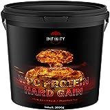 3000g / 3Kg WPC Whey Protein / Hard Gain, Erdbeere, Himbeere, Toffi oder Plätzchen Geschmack / Eiweißpulver Muskelaufbau - L-Glutamin, Aminosäuren, Bcaa, Gainer (Erdbeere)