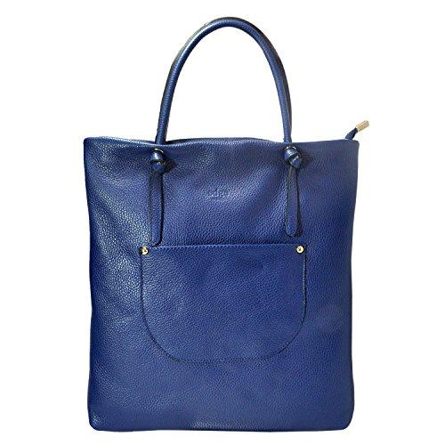 Edge Handbags , Damen Schultertasche Blau