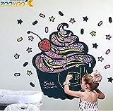 ZBYLL Wall Sticker Kuchen Design hot Vinyl ChalkboardBlackboard Aufkleber tolles Geschenk für Kinder
