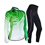 West Biking Atmungsaktive Frauen Radfahren lange Ärmel Jersey Fahrrad Jacke Fahrrad Jerseys 3D gepolsterte Hosen Sportkleidung Set