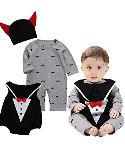 Langarm Cosplay Halloween Karneval Bodysuit Jumpsuit Set Style 3 85/12-18Monate (Halloween-85)