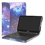 Alapmk Spécialement Conçu Protection Housses Pour 13.3' Asus Zenbook Flip S UX370UA Ordinateur Portable,Galaxy