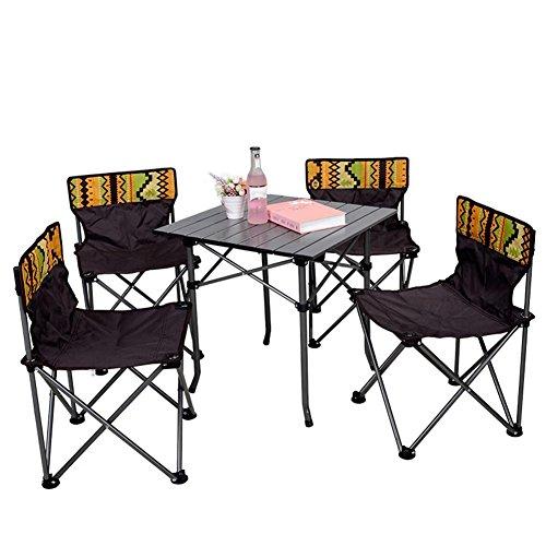 Folding Stühlen Mit Picknick-tisch (runakan Camp Klappstuhl Set 5in 1Strand Camping 4Stühle und Tisch Picknick outdoor)