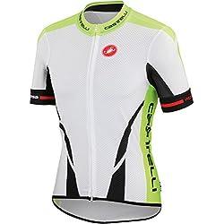 Castelli Climber's Jersey Fz-Maillot, color blanco/negro/amarillo fluo, color Blanco - blanco, tamaño XXL