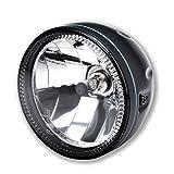 LED Motorrad Haupt Scheinwerfer Skyline LED Standlicht Ring H4 5 3/4 Zoll Klar Glas Schwarz Halogen Universal