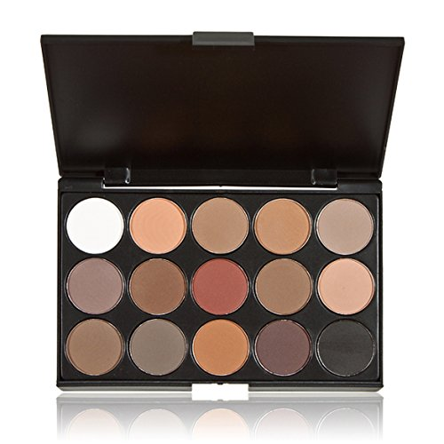 Rrimin 15 Colors Eye Shadow Makeup Shimmer Matte Eyeshadow Palette Set (02)