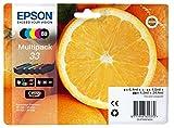 Epson 33 Serie Arancia Cartuccia Originale, Multipack, Standard, 5 Colori