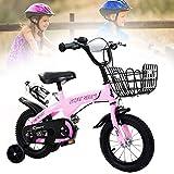 Vélo Enfant Boys Girls avec roues de soutien et marche arrière,équipé d'un siège...