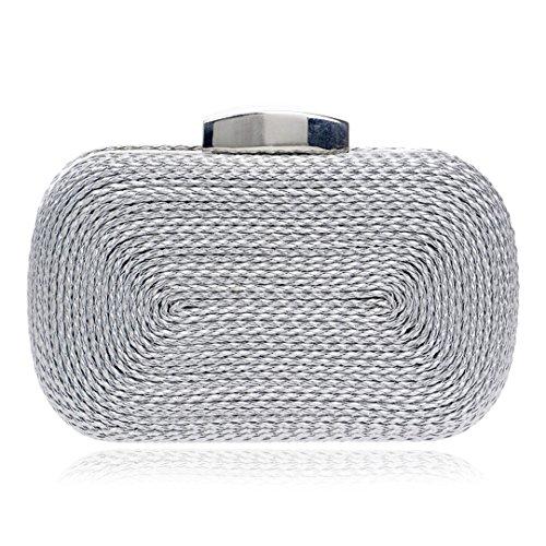 Verkauf Weben Abendtasche imitieren Stroh Gestrickte Partei Kupplungen für Frauen Geldbörse Designer Mini Handtasche (Designer Strass Acryl)