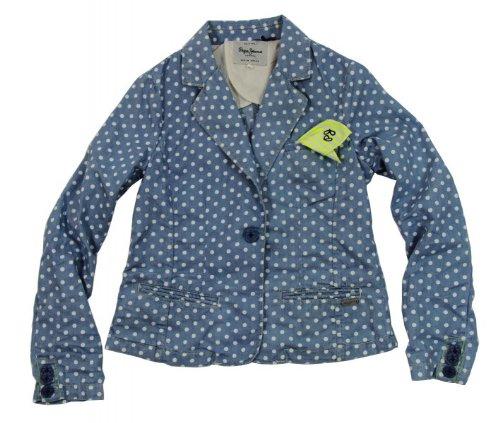 Pepe Jeans -  Giacca  - A pois - ragazza blu X-Small