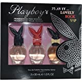 Playboy Play It... Lovely, Rock, VIP Three Piece Women's Fragrance Gift Set by Playboy