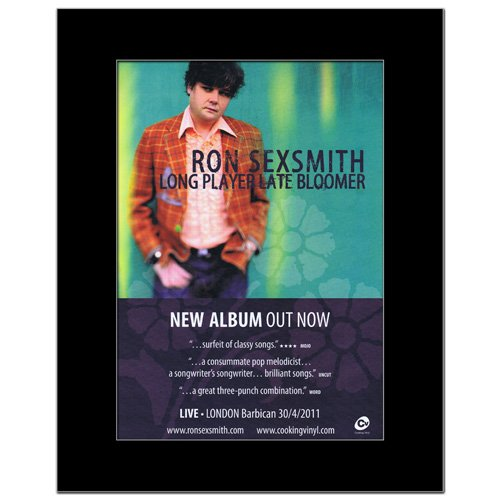 Late Player Bloomer Long (RON SEXSMITH - Long Player Late Bloomer Matted Mini Poster - 28.5x21cm)
