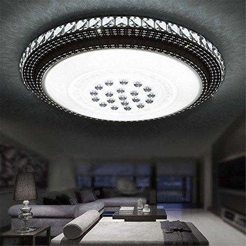 SAILUN 36W Kaltweiß Runde LED Kristall Deckenleuchte Badleuchte Licht Schlafzimmer Wohnzimmer Deckenlampe