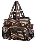 Banned Vintage 50s Steampunk Brown Striped Shoulder Handbag