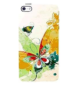 Fuson Designer Back Case Cover for Apple iPhone SE ( Greenary Wood Rose Tiger Bee Bird )