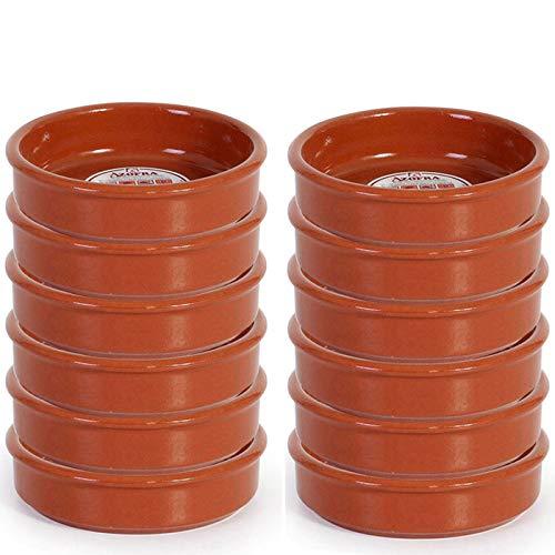 Pack de 12 cazuelas de barro de 12 cm apta para vitro
