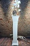 Livitat® Blumensäule Blumenständer Blumenhocker Landhaus Shabby Weiß 86 cm hoch