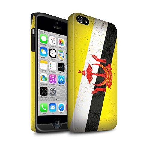 STUFF4 Matte Harten Stoßfest Hülle / Case für Apple iPhone 6 / Georgien/Georgisch Muster / Asien Flagge Kollektion Brunei Darussalam
