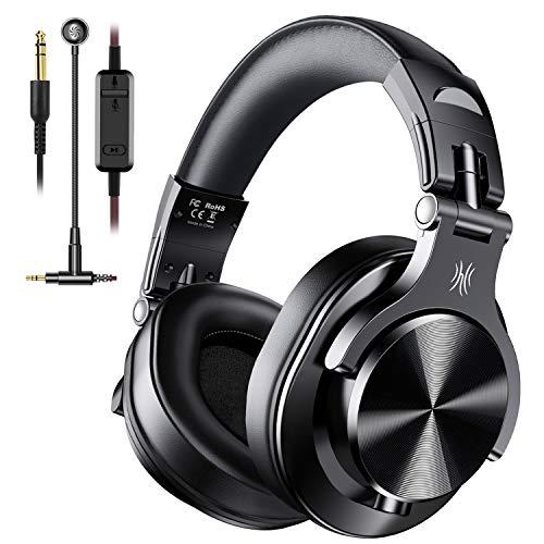 OndOdio Wired Over-Ear Gaming Kopfhörer mit Mikrofon Gaming Headset, kabelgebundene DJ Kopfhörer mit Share Port Studio Kopfhörer für Monitoring, Adapter-frei mit 6,3mm & 3,5mm Buchse