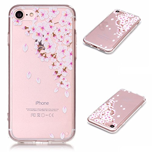 "iPhone 7 Coque Case Souple Transparente TPU Etui de Protection pour Apple iPhone 7 4.7"" Joli image Motif Serie Ultra Mince Fine Poids léger - Pissenlit Color-9"