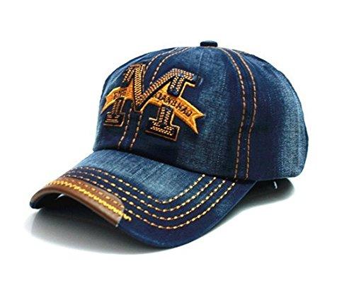 eball Cap M Jeans Sport Mütze Baseballkappe Snap back Trucker (Blue ) MFAZ Morefaz Ltd (Baumwoll-baseball-caps)