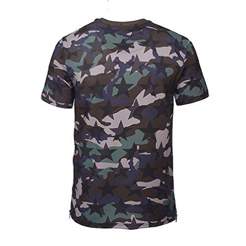 WanYang Unisex 3d Gedruckte Personalisierte Kurze Hülse Sommer Beiläufige kurze Hülsen-T-Shirts T-Stücke Druck # _6