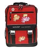 XL Schulrucksack ELEPHANT SELECT mit Regencover | Schulranzen Rucksack RED SPRING | Flower Rot