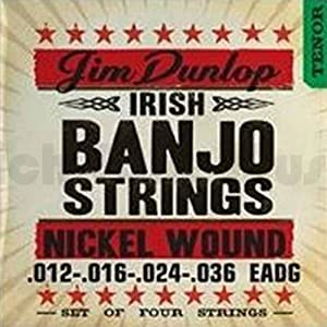 Dunlop DJN1236 Nickel Irish Tenor Banjo Strings (Pack of 4)