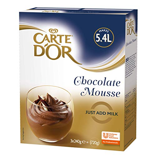 Carte D'Or Chocolate Mousse Dessert Powder Mix, 720g (Makes 5.4L)