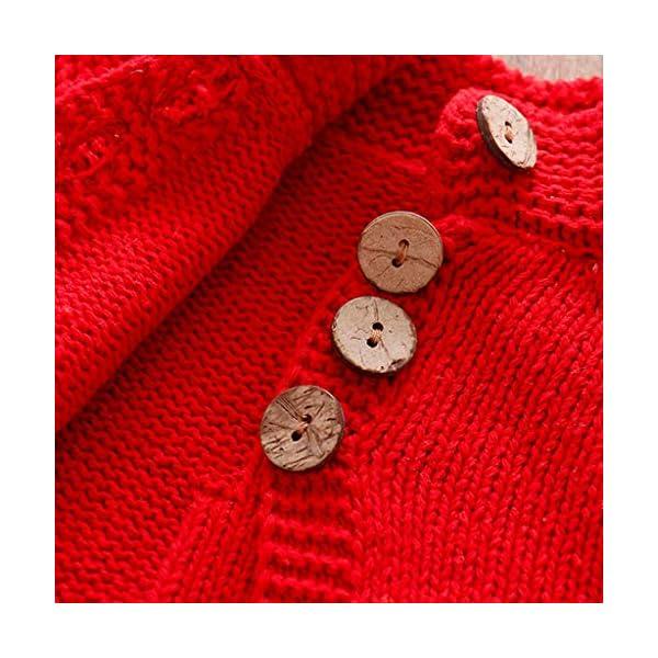 ASHOP Ropa Bebe Otoño Invierno, Chaqueta de Punto Chaqueta de Punto de niñas Jersey de Punto con Botones Ropa niños 2-8… 2