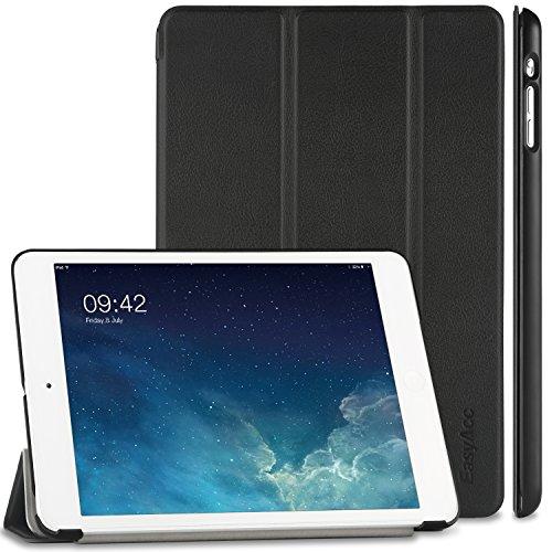 pple iPad mini 1 / 2/ 3 Hülle Ledertasche Flip Case Smart Cover mit Wake up und Standfunktion für iPad mini/ iPad mini 2/ iPad mini 3 (2014) - Schwarz, Kunstleder, Ultra Dünn. ()