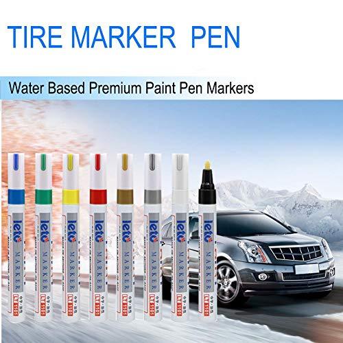 Dubleir Tire Marker Pen Touch Up Pen, Water Based Premium Paint Pen Markers