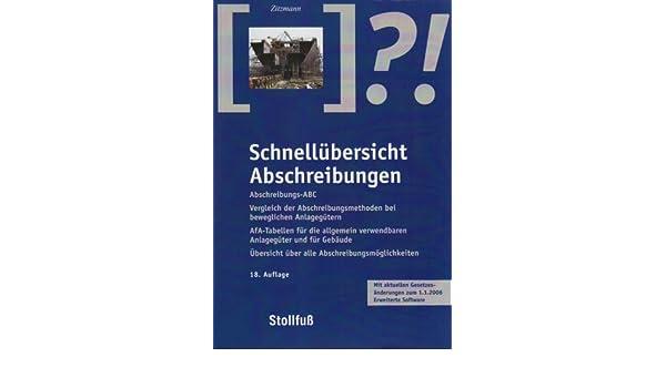 Schnellübersicht Abschreibungen: Amazon.de: Gerhard Zitzmann: Bücher