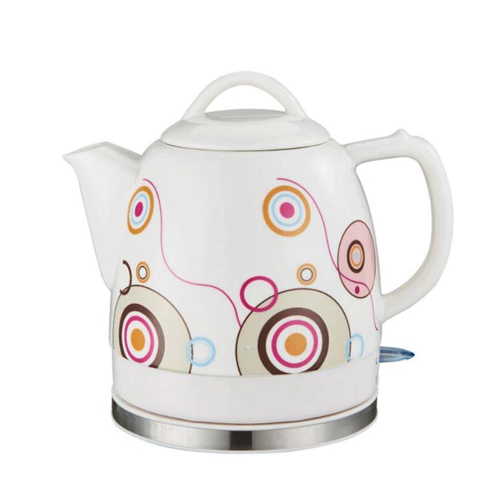 Keramik Wasserkocher Abnehmbare Basis kochen trockenen Schutz kocht Wasser schnell für Tee Kaffee Suppe Haferflocken 1.2L bunt