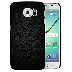 Theskinmantra Black floral back cover for samsung Galaxy S6