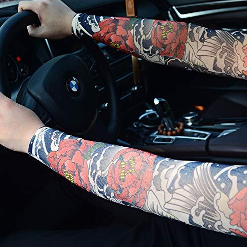 JinRui-Sport Tattoo Sleeve Tattoo Ärmel männlich Blume Arm Fahren Sonnencreme, alle Code, 5 für 90-140 kg 2 Packungen