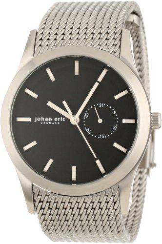 Johan Eric JE1300-04-007 - Reloj de Pulsera Hombre, Acero Inoxidable, Color Plata