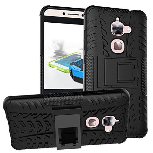 Nadakin LETV LeEco Le 2/Le S3/Le 2 Pro Hülle Schutzhülle Hybrid Rugged Phone Case Stoßfest Handys Schutz Cover mit eingebautem Kickstand Shockproof für LETV LeEco Le 2/Le S3/Le 2 Pro (Schwarz)