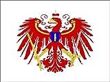 8,4 x 5,4 cm Autoaufkleber Kurbrandenburgische Flotte Brandenburg Adler Aufkleber Sticker fürs Auto Motorrad Handy Laptop