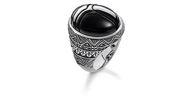 97672e4adecf Thomas Sabo Unisex Ring Black Scarab 925 Sterling Silver
