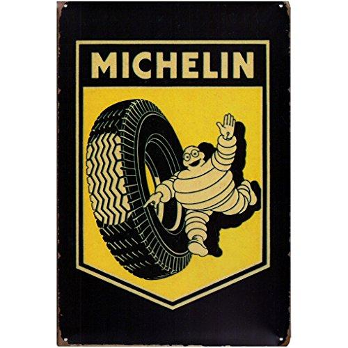 Unbekannt Blechschild Michelin Männchen Auto Reifen Metallschild Garage Werkstatt Wanddeko -